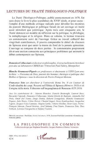 4eme Lectures du <em>Traité théologico-politique</em>