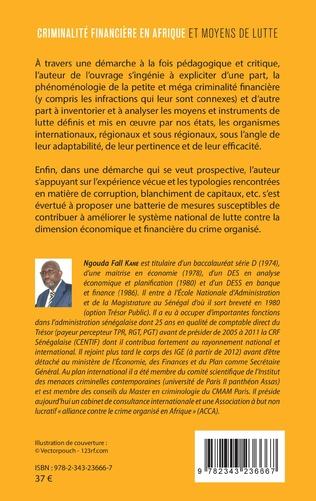 4eme Criminalité financière en Afrique et moyens de lutte