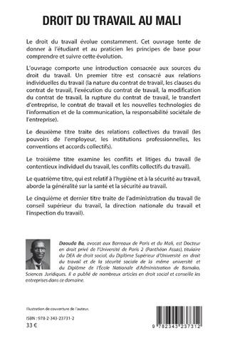 4eme Droit du travail au Mali