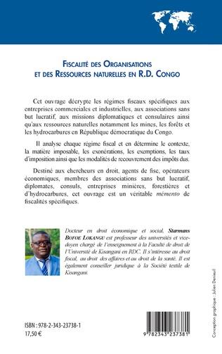 4eme Fiscalité des organisations et des ressources naturelles en R.D. Congo