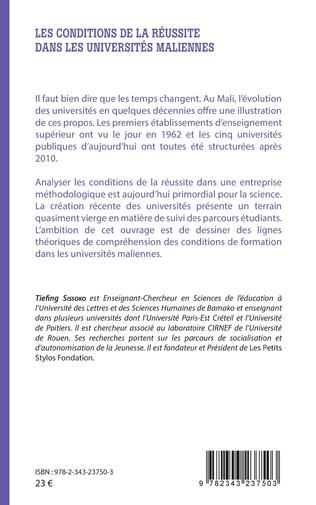 4eme Les conditions de la réussite dans les universités maliennes