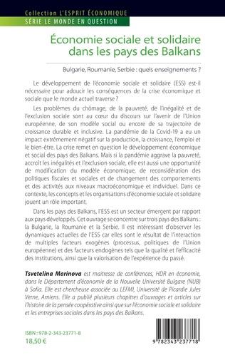 4eme Economie sociale et solidaire dans les pays des Balkans