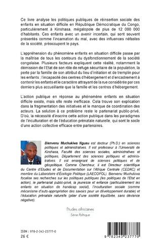 4eme Réinsertion sociale des enfants en situation difficile à Kinshasa