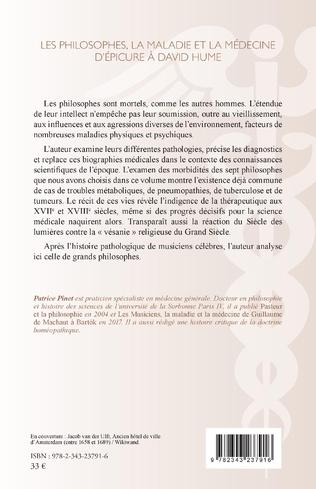 4eme Les philosophes, la maladie et la médecine d'Épicure à David Hume