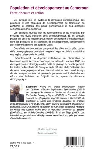 4eme Population et développement au Cameroun