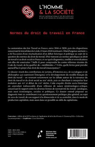 4eme Normes du droit du travail en France