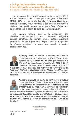 4eme « Le Togo des beaux-frères ennemis » à travers leurs adresses mensuelles à la nation