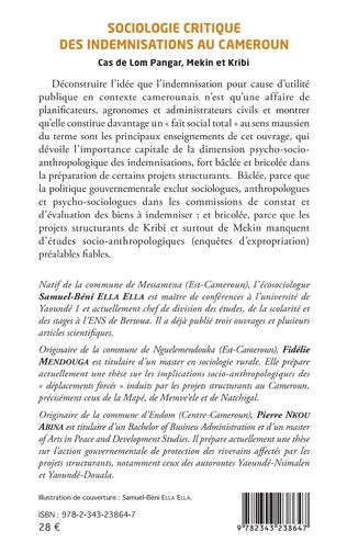4eme Sociologie critique des indemnisations au Cameroun