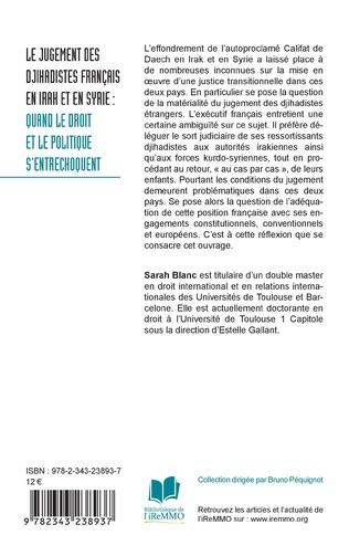 4eme Le jugement des djihadistes français en Irak et en Syrie :