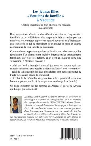 4eme Les jeunes filles « Soutiens de famille » à Yaoundé