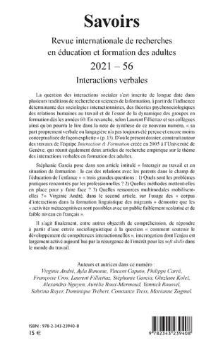 4eme Interactions verbales n°56 - 2021