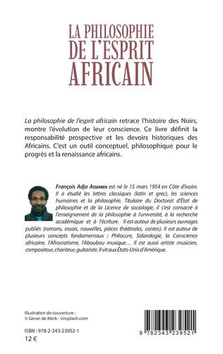 4eme La philosophie de l'esprit africain