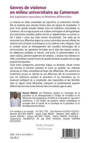 4eme Genres de violence en milieu universitaire au Cameroun