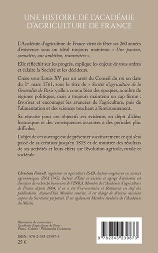 4eme Une histoire de l'Académie d'agriculture de France