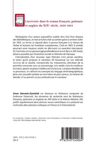 4eme L'arriviste dans le roman français, polonais et anglais du XIXe sièce