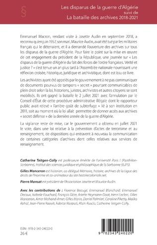 4eme Les disparus de la guerre d'Algérie