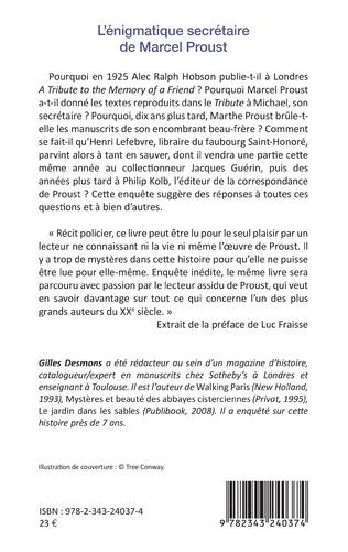 4eme L'énigmatique secrétaire de Marcel Proust