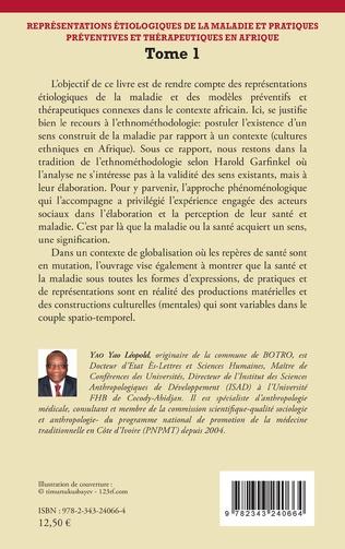 4eme Représentations étiologiques de la maladie et pratiques préventives et thérapeutiques en Afrique Tome 1