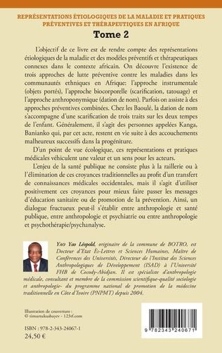 4eme Représentations étiologiques de la maladie et pratiques préventives et thérapeutiques en Afrique Tome 2