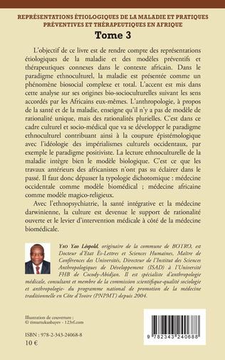 4eme Représentations étiologiques de la maladie et pratiques préventives et thérapeutiques en Afrique Tome 3