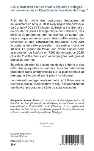 4eme Quelle protection pour les enfants déplacés et réfugiés non accompagnés en République démocratique du Congo ?