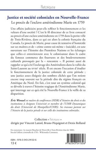 4eme Justice et société coloniales en Nouvelle-France