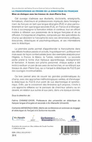 4eme La francophonie au prisme de la didactique du français