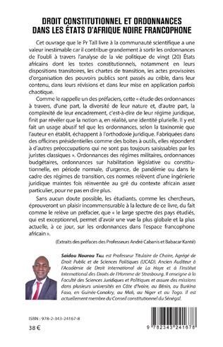 4eme Droit constitutionnel et ordonnance dans les États d'Afrique noire francophone