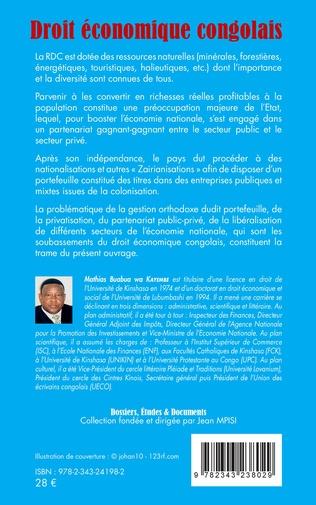 4eme Droit économique congolais