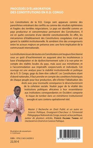 4eme Procédés d'élaboration des constitutions en R.D. Congo