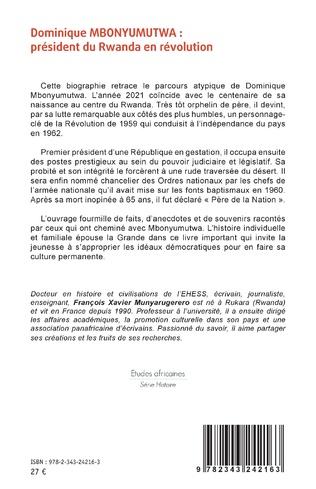 4eme Dominique MBONYUMUTWA : président du Rwanda en révolution