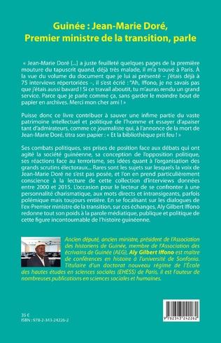 4eme Guinée : Jean-Marie Doré, Premier ministre de la transition, parle