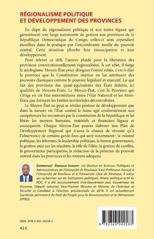 4eme Régionalisme politique et développement des provinces