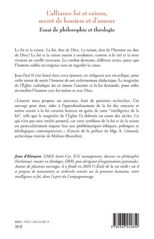 4eme L'alliance foi et raison, secret de lumière et d'amour