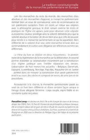 4eme La tradition constitutionnelle de la monarchie parlementaire en Europe