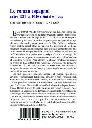 4eme Le roman espagnol entre 1880 et 1920 : état des lieux