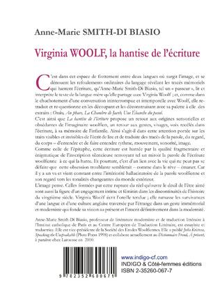 4eme Virginia Woolf, la hantise de l'écriture