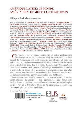 4eme Amérique latine : le monde Amérindien et Métis contemporain
