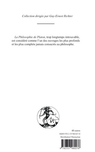 4eme PHILOSOPHIE DE PLATON (TOME I)