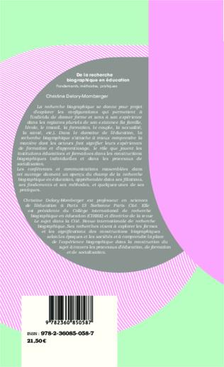 4eme De la recherche biographique en éducation