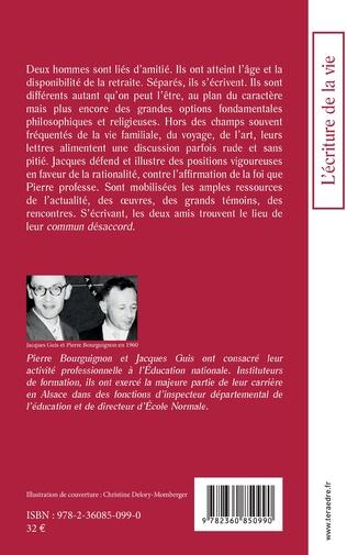 4eme D'un commun désacord. Correspondance 1990-2007
