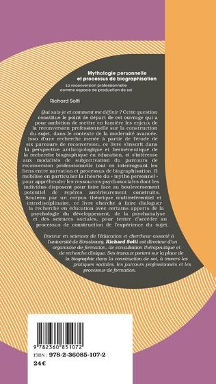 4eme Mythologie personnelle et processus de biographisation