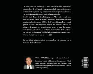 4eme LES TIRAILLEURS COMORIENS DE LA PREMIERE GUERRE MONDIALE (1914-1918)