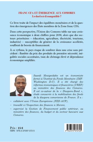 4eme Franc CFA et émergence aux Comores