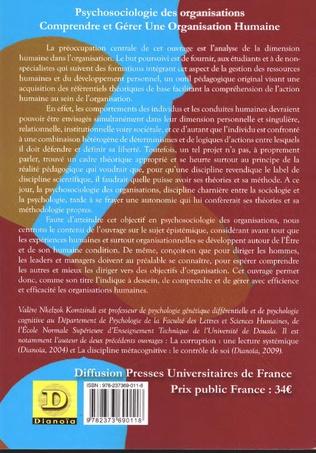 4eme Psychosociologie des organisations