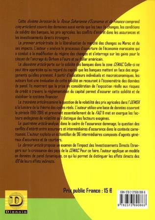 4eme La Revue subsaharienne d'Economie et de finance