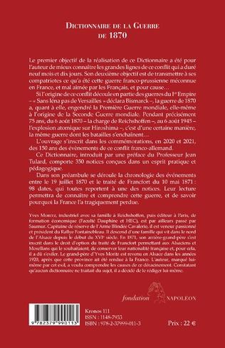 4eme Dictionnaire de la Guerre de 1870