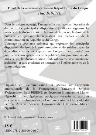 4eme Droit de la communication en République du Congo