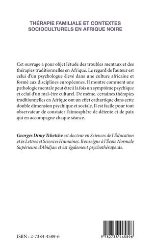 4eme Thérapie familiale et contextes socioculturels en Afrique Noire