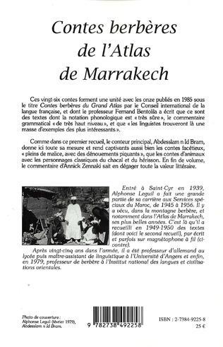 4eme Contes berbères de l'Atlas de Marrakech